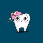 Zahn putzt sich selbst Grafik